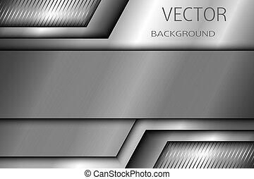 10., résumé, métal, eps, arrière-plan., vecteur