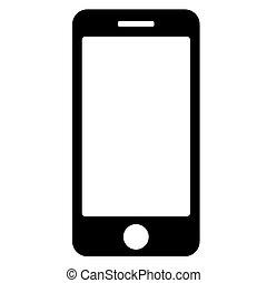 10., téléphone, eps, arrière-plan., vecteur, noir, blanc, icône