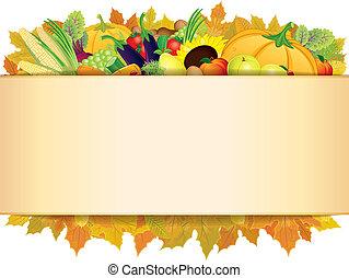 10, thanksgiving, eps, automne, arrière-plan., vecteur