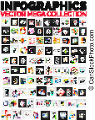 100, dispositions, infographic, collection, mega