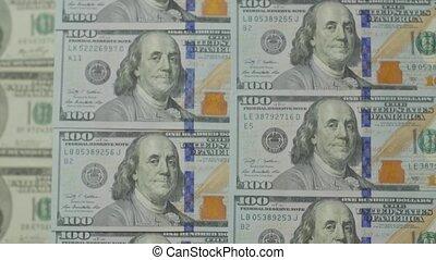 100, factures, dollar