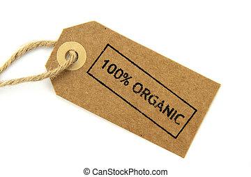 100, organique, affranchi, étiquette