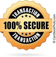100, transaction, assurer, icône