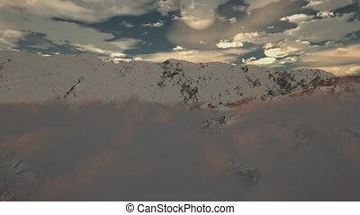 (1190), montagne, wildern, neige, hiver