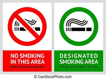 12, non, étiquettes, -, secteur, ensemble, fumer