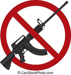 15, fusil, illustration, assaut, ar, fusil, interdiction