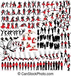 150, silhouettes, loisir, gens