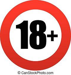 18+, âge, signe., restriction