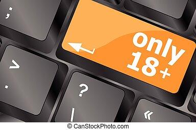 18, bouton, foyer, illustration, seulement, vecteur, plus, clavier, doux