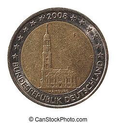 2, allemagne, monnaie, euro