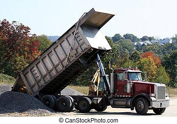 2, camion, décharge