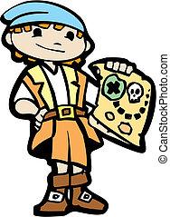 #2, déguisement, pirate, garçon