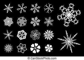 2, flocons neige