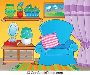 2, image, thème, salle, meubles