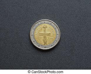 2, monnaie, euro