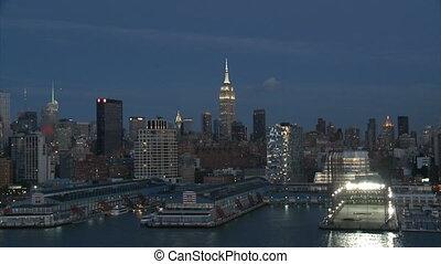 2, nuit, partie, york, cityscape, nouveau