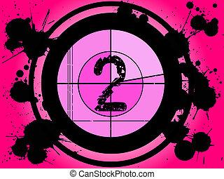 2, pellicule, -, rose, compte rebours
