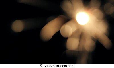 2, sparkler, lumières, brûlé, bengale