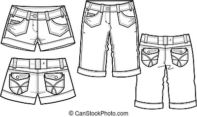 2, style, mode, dame, short
