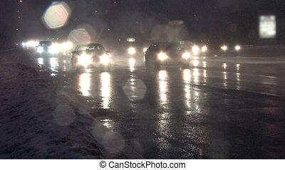 2, trafic, tempête neige