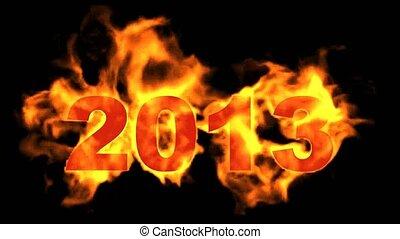 2013, année, heureux, 2013, nouveau