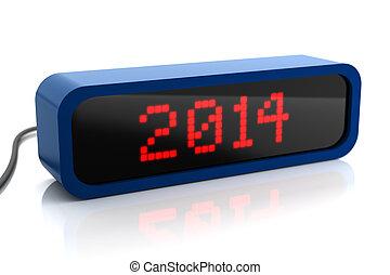 2014, affichage diodes électroluminescentes, année