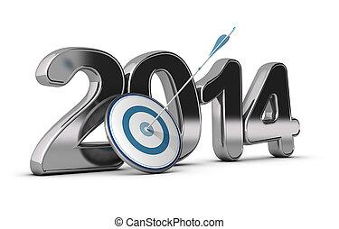 2014, business, -, objectifs, concept