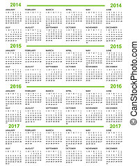 2014, nouvel an, 2015, 20, calendrier
