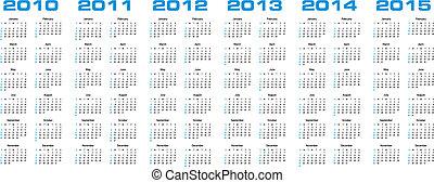 2015, calendrier, par, 2010