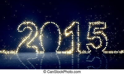 2015, lumières, salutation, loopable, noël