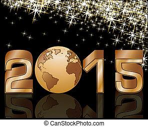 2015, nouveau, célébration, heureux, année