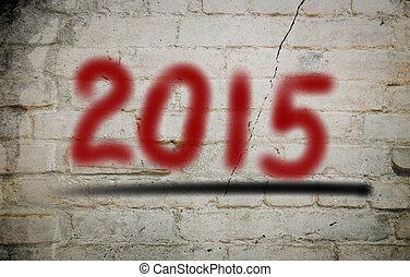 2015, nouveau, concept, heureux, année