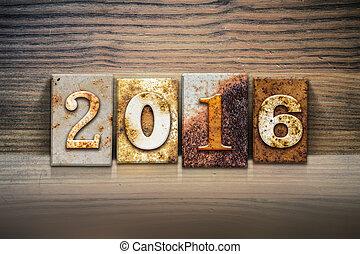 2016, thème, concept, letterpress