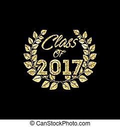 2017, classe, carte