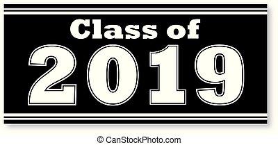 2019, bannière, classe