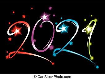 2021, année, grandiose, nouveau, événement
