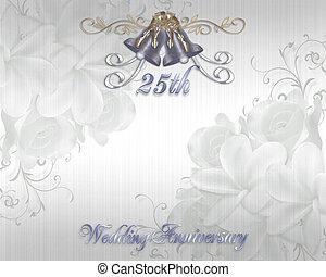 25ème anniversaire mariage, invitation