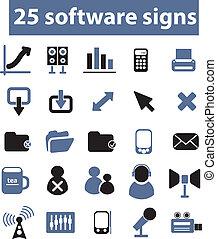 25, vecteur, signes, logiciel