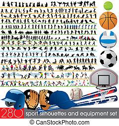 280, silhouettes, sport, équipement