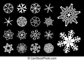 3, flocons neige