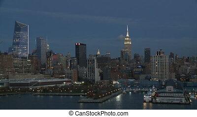 3, nuit, partie, york, cityscape, nouveau