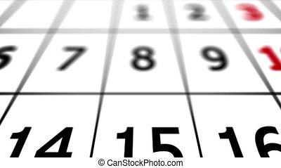 """"""", 31ème, calendar., """"end, month., date"""