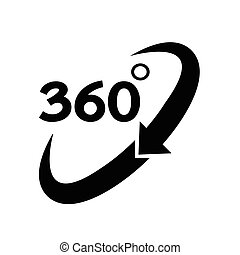 360 degré, icône