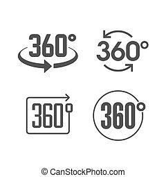 360, vue, degrés