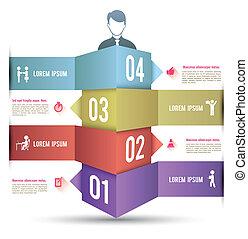 3d, barre, options, infographics