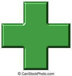 3d, croix, pharmacie