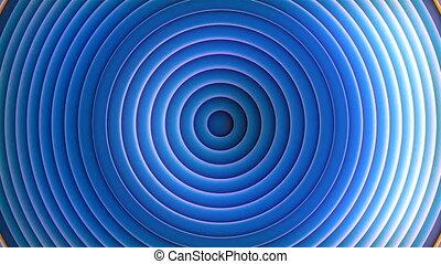 3d, en mouvement, loopable, bleu, seamless, waves., cercles, 4k