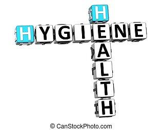3d, mots croisés, hygiène, santé