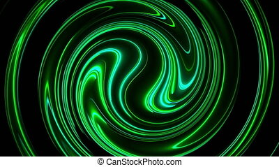 3d, résumé, fusion, torsade, néon, circulaire, couleur, lines., ordinateur a engendré, arrière-plan., rendre