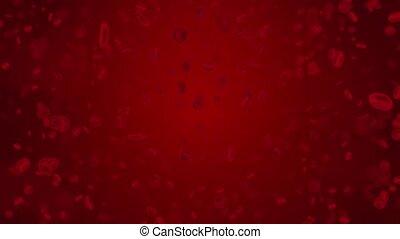 3d, sanguine, couler, cellules, animation, intérieur, human., 4k, artère, monde médical, corps, boucle, rouges